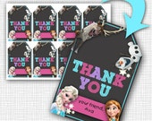 INSTANT DOWNLOAD - Frozen Gift Tags