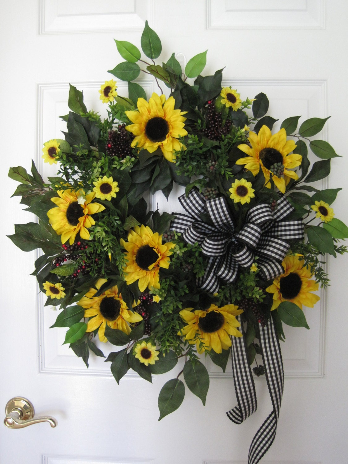 Sunflower Wreath Country Wreath Spring Wreath Summer Wreath