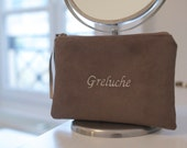 Personalized Pouch in suede