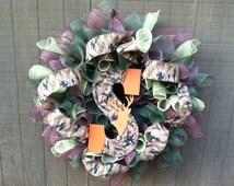 Camo Wreath, Camo Wedding, Camo Wedding Decor, Camo Decor, Camo Wedding Gifts