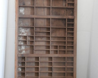 Huge Printers Tray Shadow Box Circa 1930s