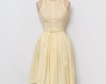 Vintage 50s Dress / Stripes dress / 50s dress / Stripes /1950s Cotton Dress / Party Dress / 50s Sun dress
