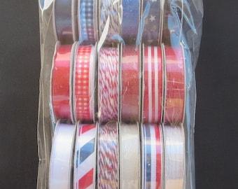 American Crafts 732511 Americana Value Pack Premium Ribbon
