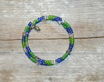 Championship Seahawks Double Loop Bracelet - Proceeds Benefit Cancer Research