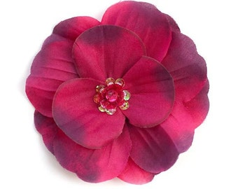 Emily  Scarlet Silk Flower