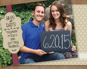 Vintage Rustic Taupe Wedding Photos Photo Pictures Picture Save The Date Save-The-Date Dates Cards Card with envelopes