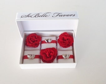 Valentine Chocolate Box - Roses and Silver Hearts