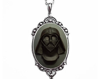 Darth Vader Necklace - Star Wars Jewelry - Grey