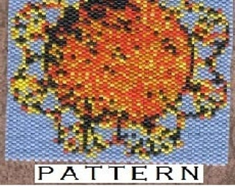 Sun Amulet Pattern-peyote stitch