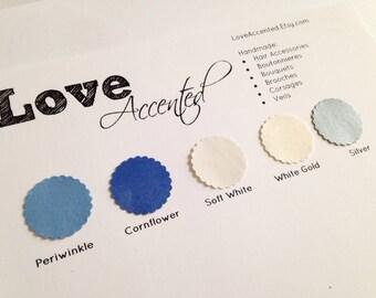 COLOR SAMPLES, Color Swatch- Choose 5 Colors
