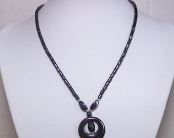 Magnetic Hematite  Necklace 18 inch with Pendant