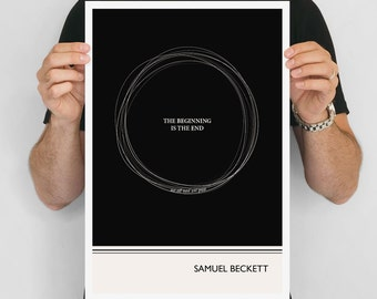 Literary Art Print, Samuel Beckett  Large Wall Art Posters, Literary Quote Poster, Illustration, Minimalist Prints, Bookish Gift for Writer