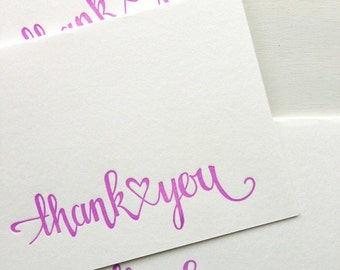 Letterpress Wedding Thank You Cards Engagement Thank You Cards