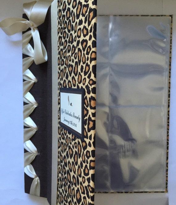 cheetah print photo album animal print photo album bridal