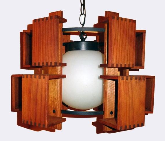 Mid Century Swag Lamp: Mid Century Swag Lamp Vintage Wood Globe Light By Rubyinthesky