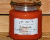 Honeysuckle Soy Candle/16 Ounce Jar/ Soy Candle/110 Hour Burn Time/Floral Scented Candle/Sweet Scent/Fragrant Soy Candles/Soy Candles