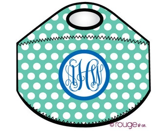 POLKA DOT monogrammed lunch tote - with customizable pattern and monogram