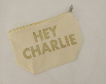 Hey! Custom Cotton Bag, SHIPS FAST and FREE, Free Personalization