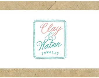 SALE - PreDesigned Custom Vector Logo Design CLAY and WATER Logo - Custom Business Branding