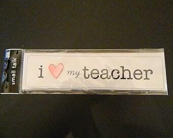I Love My Teacher Embellishment