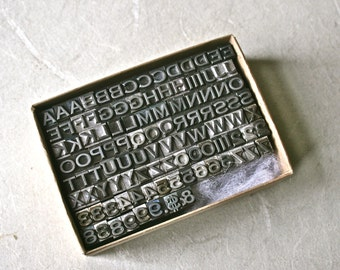 Letterpress Type Triple Letters and Numbers for Initials and Monograms Printing and Stamping