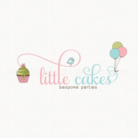 Cupcake Logo Party Logo Design Balloon Logo By