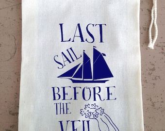 Bachelorette Party,  Hangover Kit, Drawstring Favor Bags, Last Sail Before the Veil, Cruise