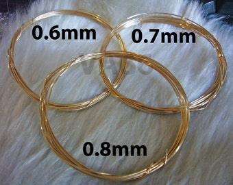 DIY 14K Gold Filled Craft Wire Jewelry Making Findings 14KGF 0.7mm for Jewelry Design Hypo Allergic Quality, Beads, crystal