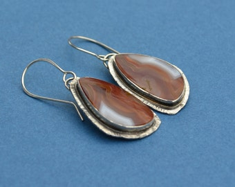 Augua Nueva Nodular Agate and Sterling Silver Earrings