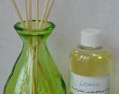 Reed Diffuser Kit with teardrop glass jar, custom scent