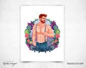 Spring Flowers  - 8x11 Print