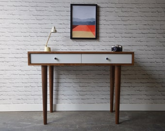 "Bloom Desk 38"" - Danish Modern Inspired - Teak on Solid Cherry"