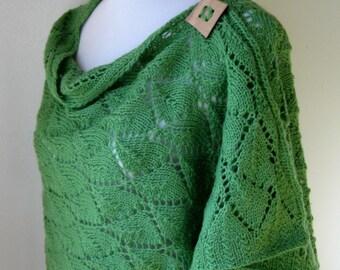 Hand Knit Wool Wrap / Shawl / Poncho