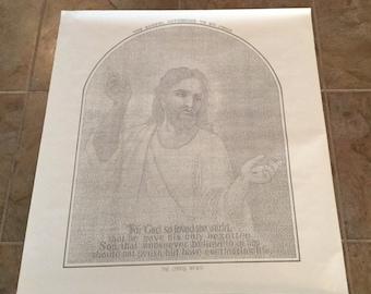 Vintage Gospel of St. John Religious Poster