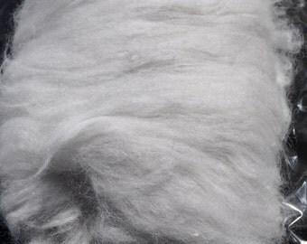 Angora Rabbit Fiber Wool Spinning Fiber Roving Carded Felting Crafts 100% Angora Silver/Gray