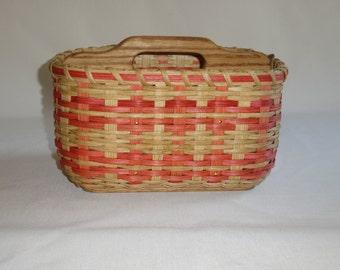 Paper Plate-Silverware Basket / Divided Basket /  Handwoven Basket /Organizer Basket