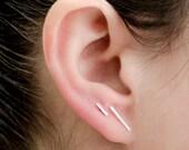 Bar Earring COMBO, Sterling Silver, Bar Post Earrings, Line Earrings, Stud Earrings, Minimalist, Modern, Gift, COM001