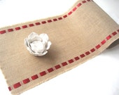 Valentine's Burlap Table Runner - Country Charm - Coastal Living
