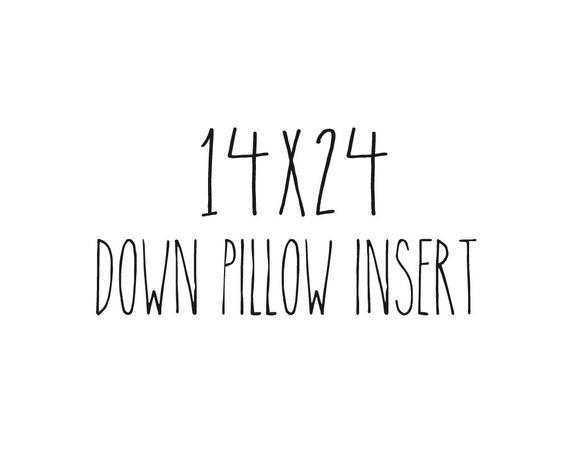 "14"" x 24"" Pillow Insert Form Down Feather Fill Large Lumbar"