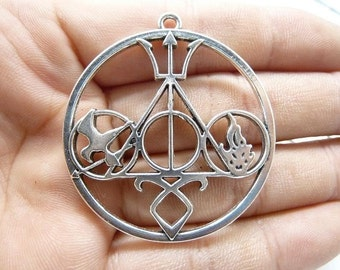 5pcs 42mm Antique Silver Huge Popular Movies Symbol Charm Pendant C7994