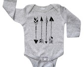 Arrows Baby Kids T Shirt - Long Sleeve One Piece Baby Bodysuit Romper - Baby & Toddler Children's Clothing - Boys Clothing - Girls Clothing
