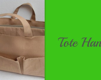 Tote handle for your purse organizer