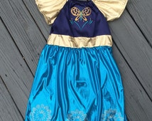 Frozen Fever Anna Dress with Gold Trim, Skirt Infant & Toddlers