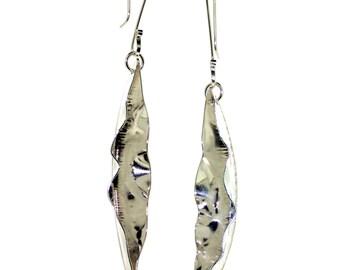 Pod Earrings - Sterling Silver Fold-Formed Earrings