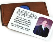 Personalized Wallet Card, Engraved Love Note, Custom Wallet Insert: Send with a loved one