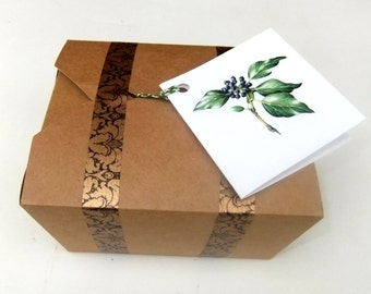 Gift Box Please choose 3 soaps and a hand and foot balm or a cream