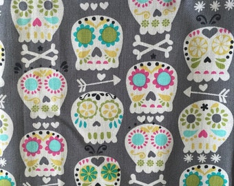 Day of the Dead Skull Fabric