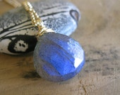 SALE!  Labradorite, Gold Necklace - 20% OFF