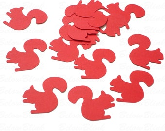 50 Red Squirrel punch die cut cutout confetti scrapbook embellishments - No757
