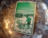 Simply Rich 4 FLY FISHING  VTG Playing cards, REpurpose for Fisherman, Lodge party, gift tags, Wedding placecards, party food markers,